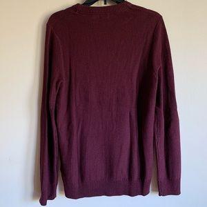 Maroon Fine-knit Sweater